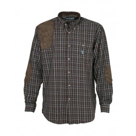 Chemise chasse Percussion Sologne Marron