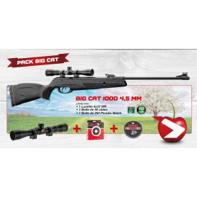 Pack cerise Gamo Big Cat 1000 - Cal. 4,5 mm