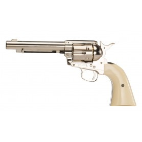 Revolver Colt Army 45 Simple Action nickelé