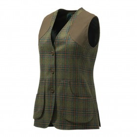 Gilet de chasse Femme Beretta St James - Tweed Vert & Violet