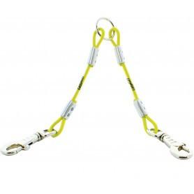 Accouple double câble métallique CaniHunt Xtreme