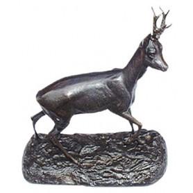 Bronze Chevreuil grand modèle à l'arrêt