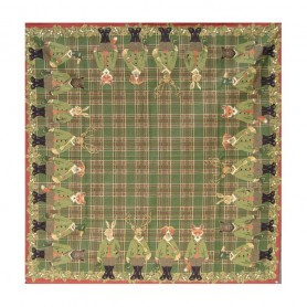 Nappe Animaux chasseurs / Vert