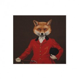 Coussin Renard veste rouge