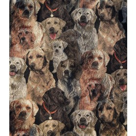 Housse coussin chiens