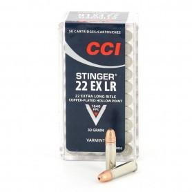 Cartouches 22 LR CCI Stinger
