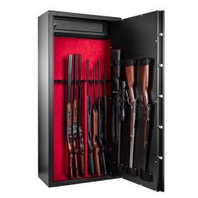 Armoire forte Rietti modulable 14 armes / 10 armes + étagères