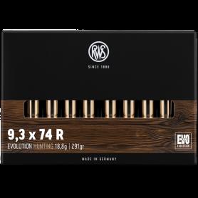 Cartouche RWS / cal. 9,3x74 R - Evo 18,8 g