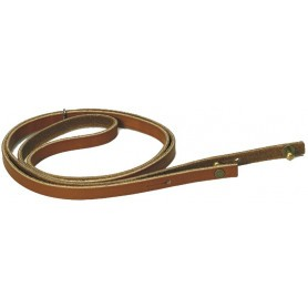 Lanière-sautoir en cuir gras pour corne de chasse