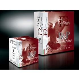 Pack 100 cart. B & P F2 Pigeon / Cal. 12 - 36 g - Plomb N°4