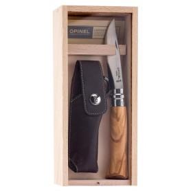 Couteau de chasse pliant Opinel manche olivier