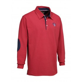 Polo Ligne Verney-Carron Casual manches longues - Rouge