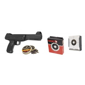 Pack pistolet air comprimé Gamo P-900 Gunset - Calibre 4,5 mm