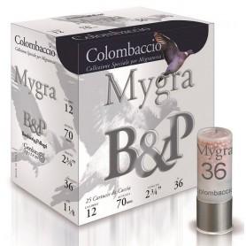 Cartouche B & P Mygra Colombaccio / Cal. 12 - 36 g