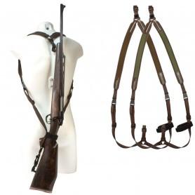 """Bretelle carabine néoprène Niggeloh """"sac à dos"""" / Orange"""