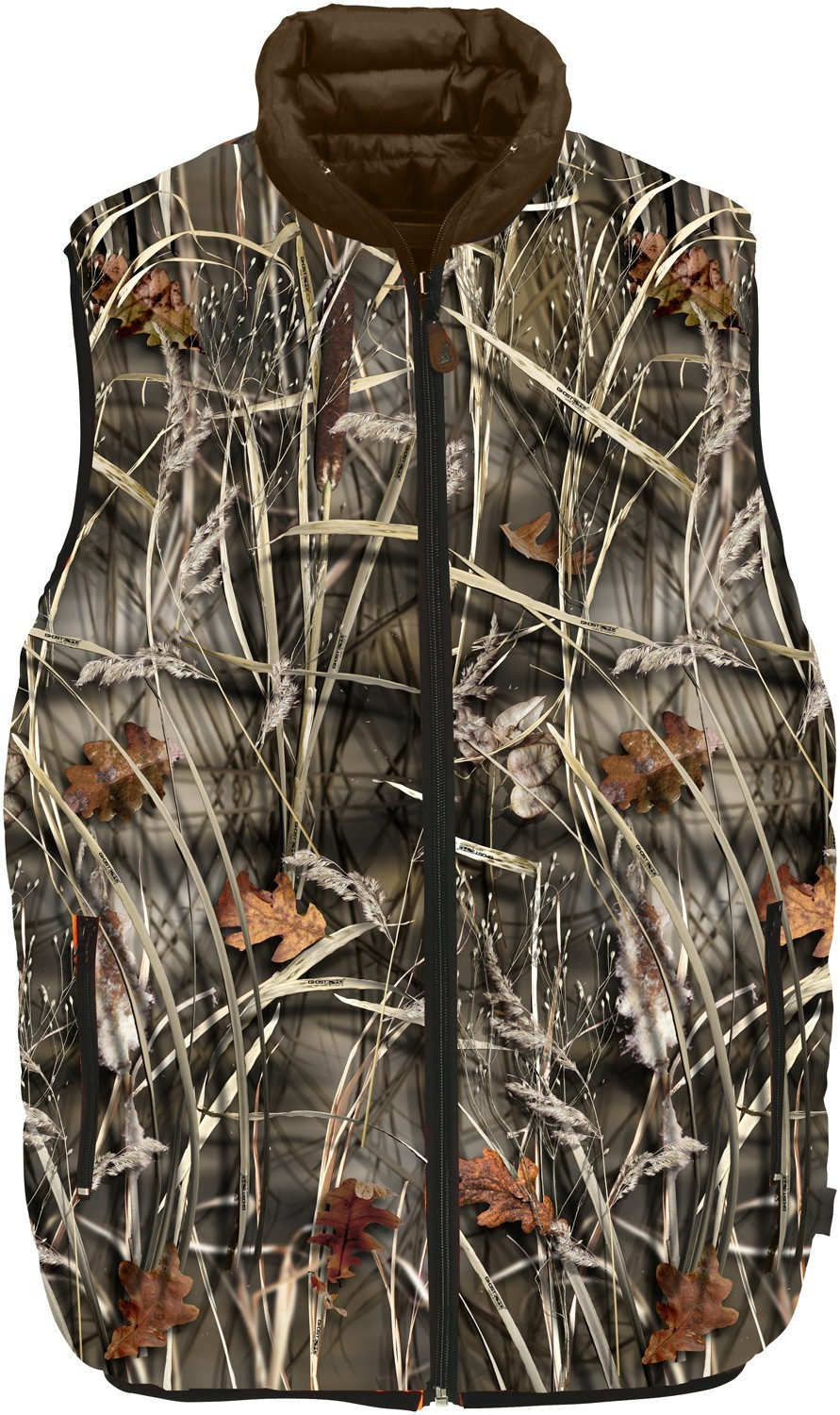 Réversible Percussion Ouatiné Wet Ghostcamo Gilets Marron Gilet qz0nvH