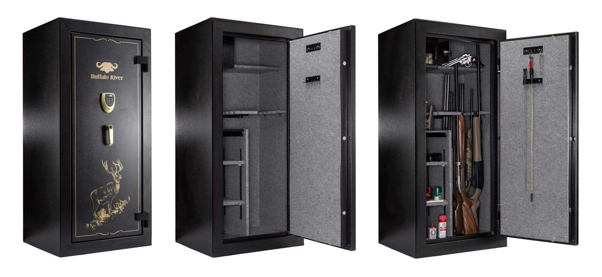 armoire forte buffalo river digital premium 22 armes. Black Bedroom Furniture Sets. Home Design Ideas