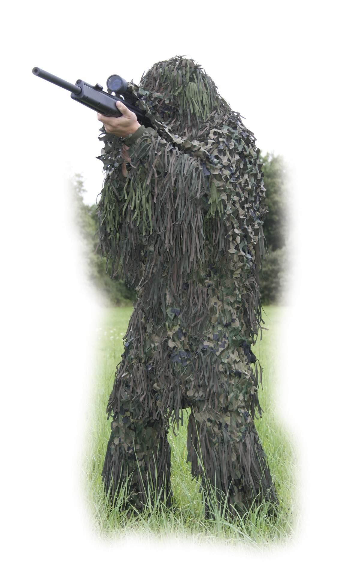 tenue compl te de camouflage ghili xl xxl abris et filets de camouflage made in chasse. Black Bedroom Furniture Sets. Home Design Ideas
