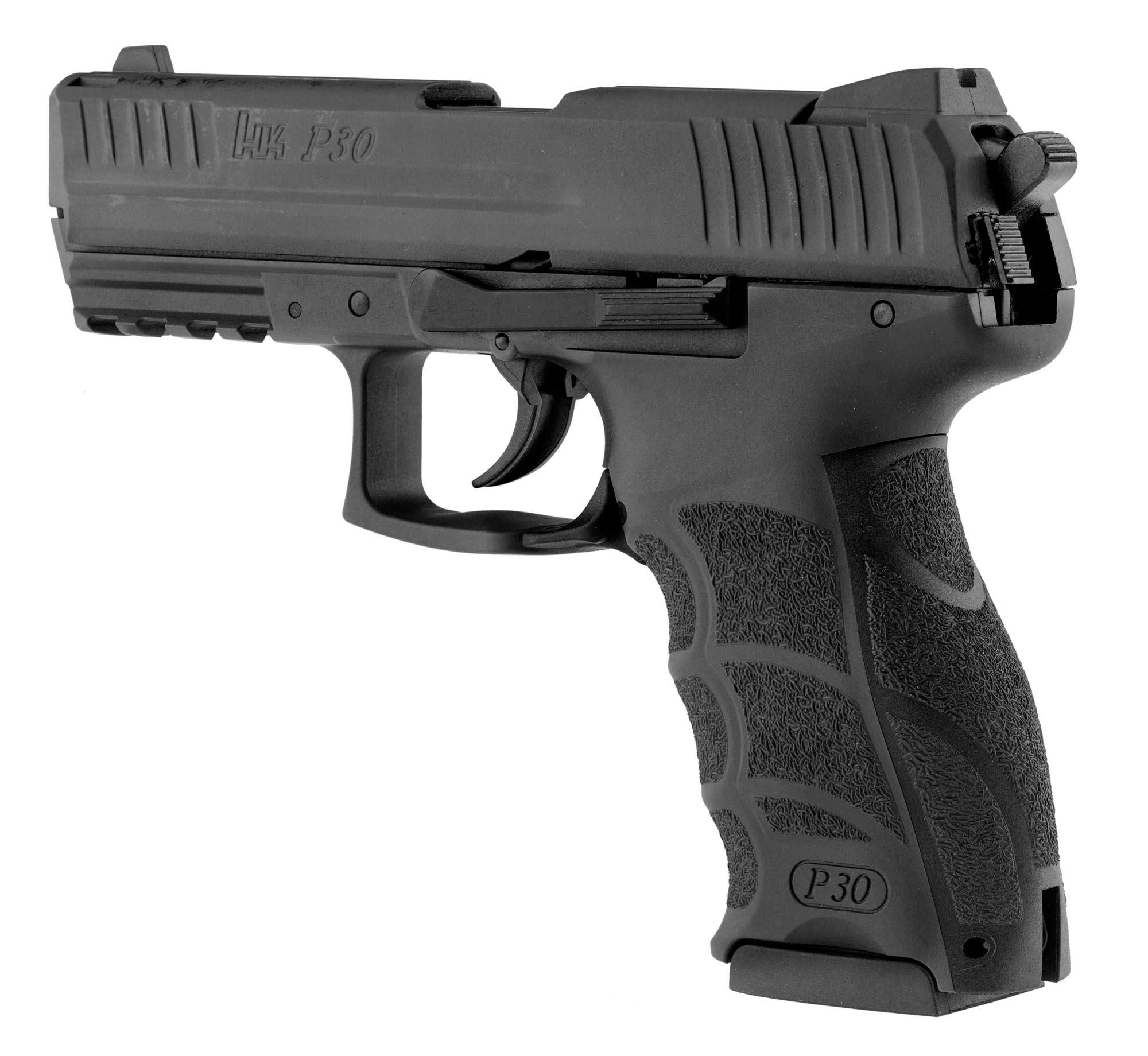 pistolet d 39 alarme hk p30 noir armes blanc et gaz. Black Bedroom Furniture Sets. Home Design Ideas