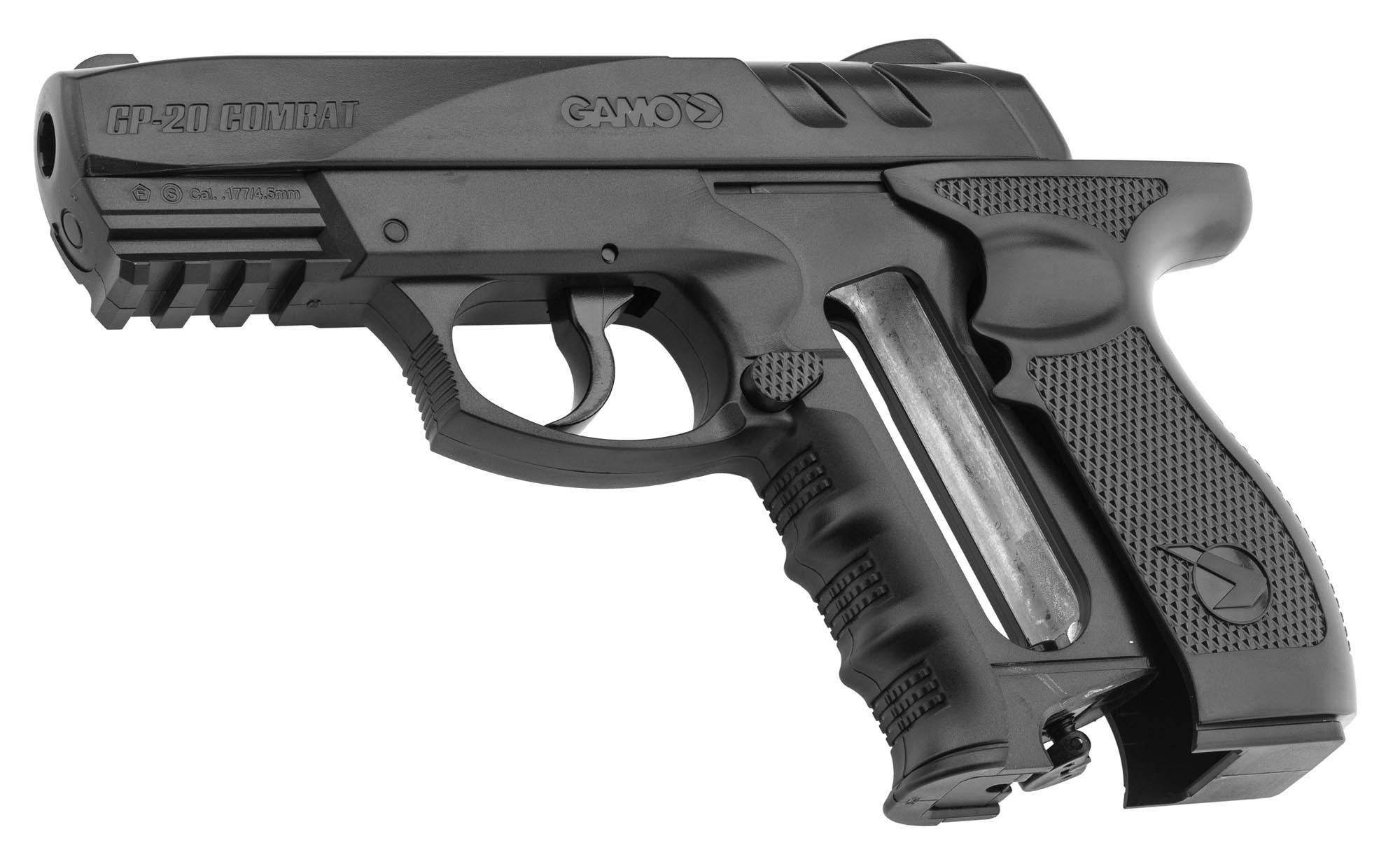 pistolet co2 gamo gp 20 cal 4 5 mm pistolets air comprim co2 made in chasse. Black Bedroom Furniture Sets. Home Design Ideas
