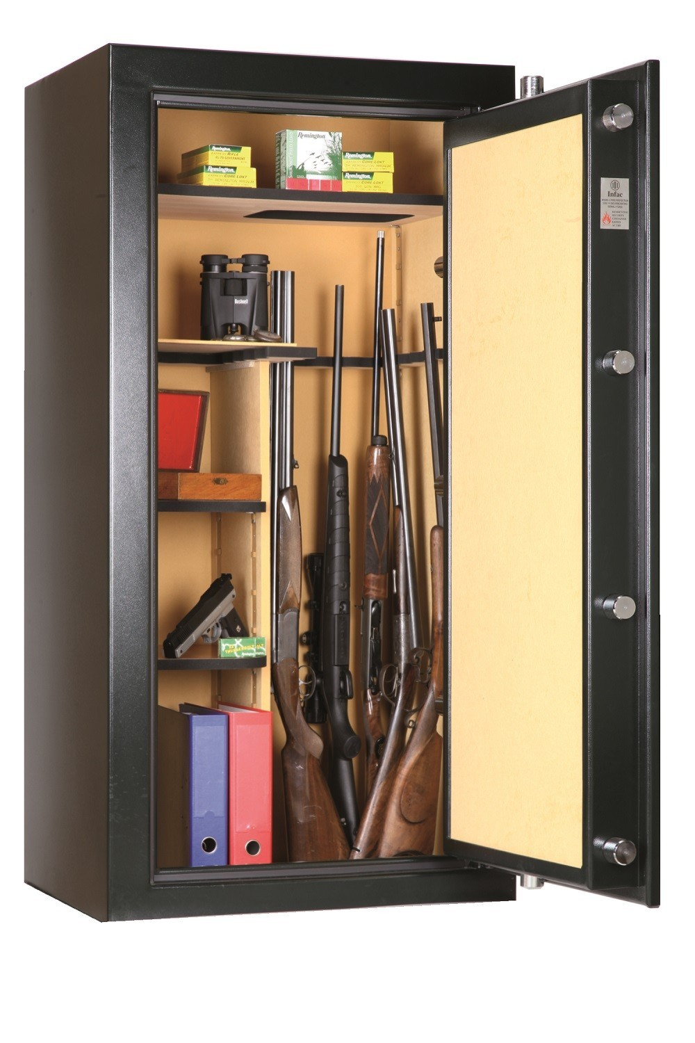 armoire forte anti feu infac big safe vert 12 24 armes. Black Bedroom Furniture Sets. Home Design Ideas