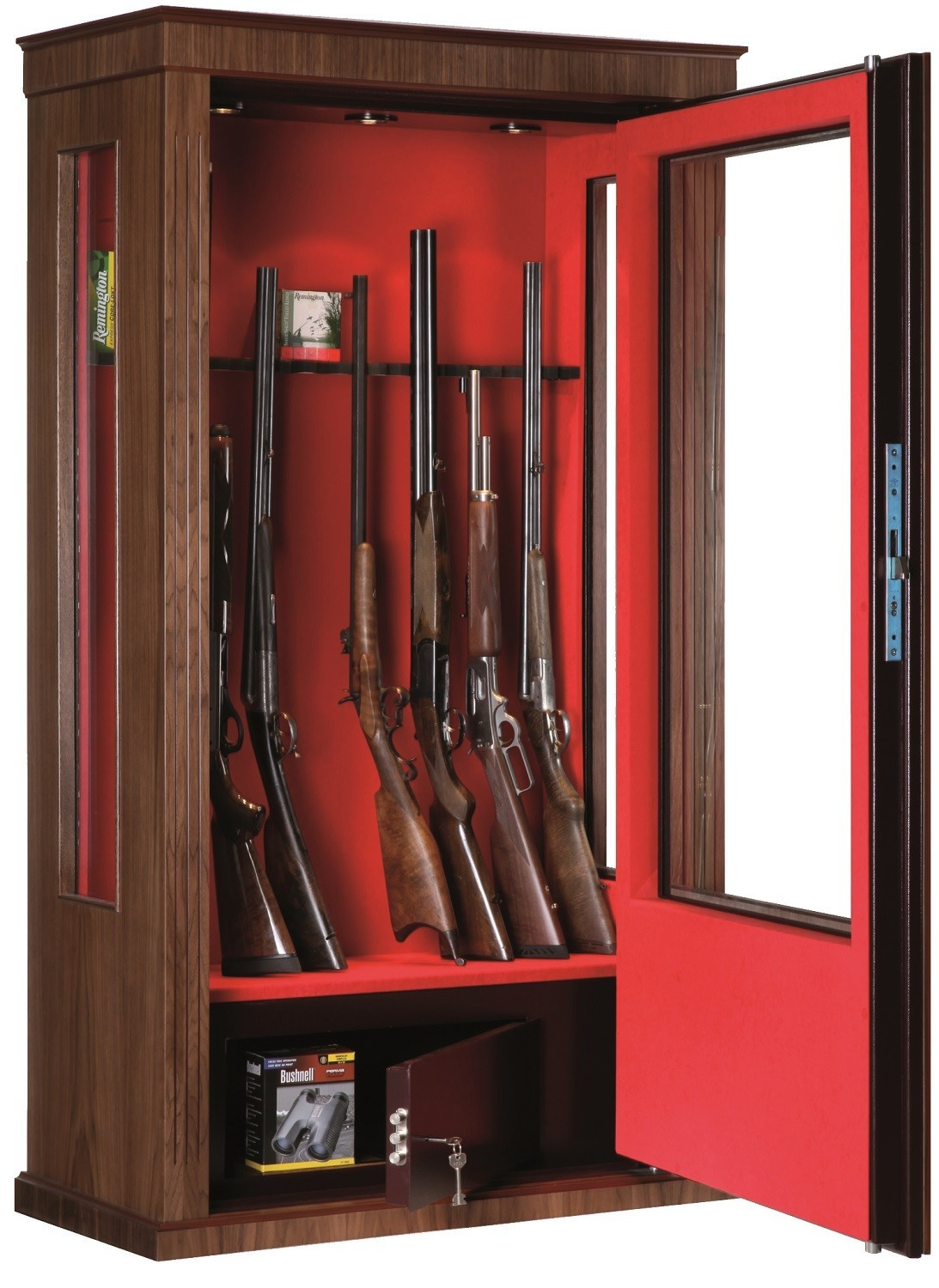 armoire forte vitrine infac noyer 12 16 armes. Black Bedroom Furniture Sets. Home Design Ideas