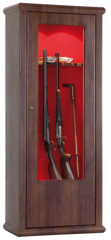 armoire forte infac vitrine couleur bois lv62 10 armes. Black Bedroom Furniture Sets. Home Design Ideas